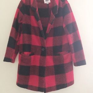 Old Navy plaid oversized jacket